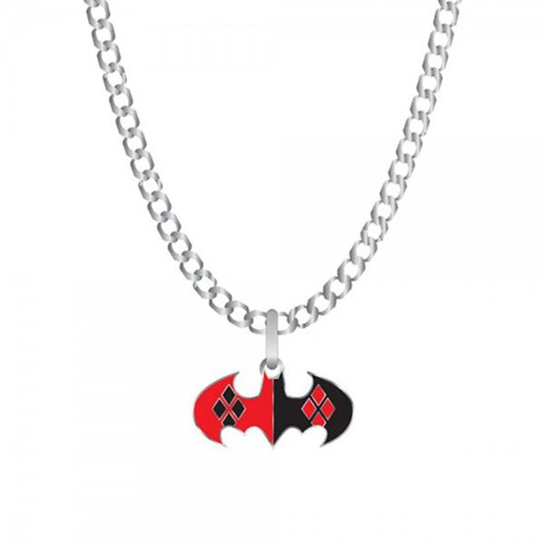 DC Comics Harley Quinn Batman Logo Necklace