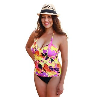 CaCelin Women's Summer Splash Tankini