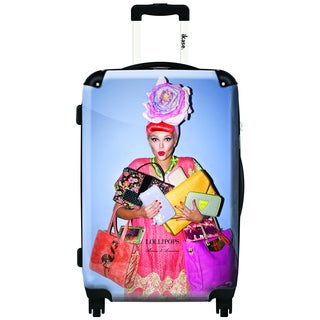 iKase Lollipops 20-inch Hardside Carry On Spinner Upright Suitcase