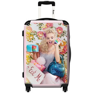 iKase Eat Me by Lollipops 20-inch Hardside Carry On Spinner Upright Suitcase