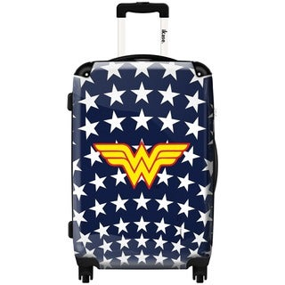 iKase Wonder Woman Stars 20-inch Carry On Hardside Spinner Suitcase