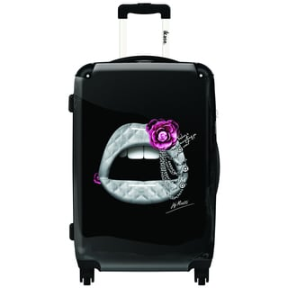 iKase Jeweled Lips 20-inch Carry On Hardside Spinner Suitcase