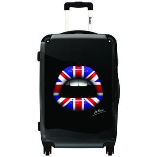 iKase English Lips 20-inch Carry On Hardside Spinner Suitcase