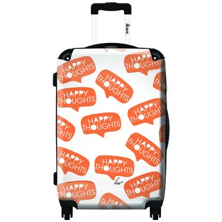 iKase Happy Thoughts 20-inch Carry On Hardside Spinner Suitcase