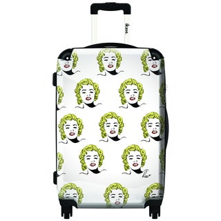 iKase Marilyn Portrait 20-inch Carry On Hardside Spinner Suitcase