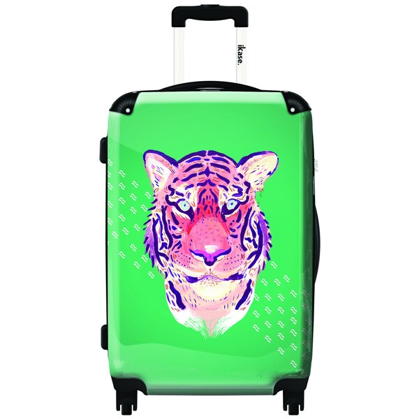 iKase Pinked Tiger 20-inch Carry On Hardside Spinner Suitcase