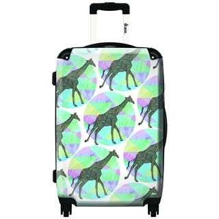 iKase Rhythmic Giraffe 20-inch Carry On Hardside Spinner Suitcase