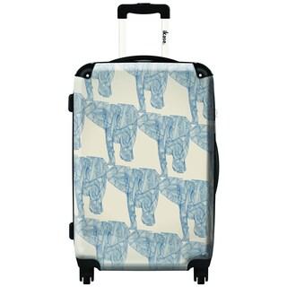 iKase Elephant Herd 20-inch Carry On Hardside Spinner Suitcase