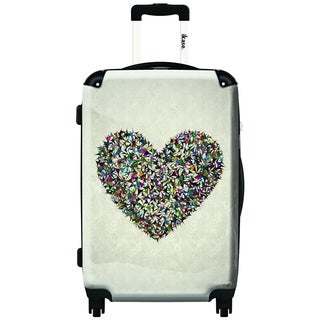 iKase 3D Heart 20-inch Carry On Hardside Spinner Suitcase