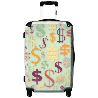 iKase Money Money 20-inch Carry On Hardside Spinner Suitcase