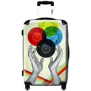 iKase Vinyl Pop by ELO 20-inch Carry On Hardside Spinner Suitcase