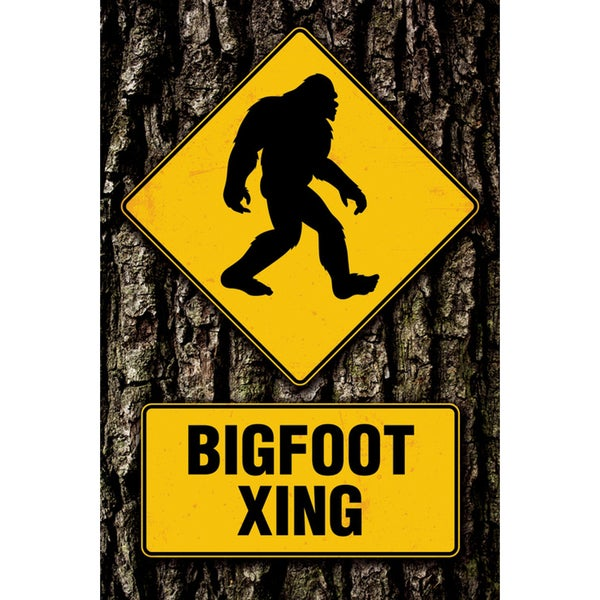 Bigfoot Crossing Poster Sign