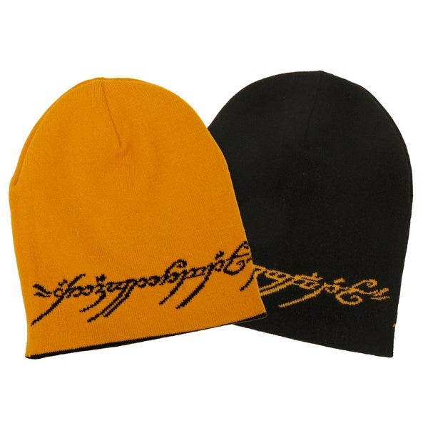 Lord of The Rings One Ring Text Reversible Beanie Hat