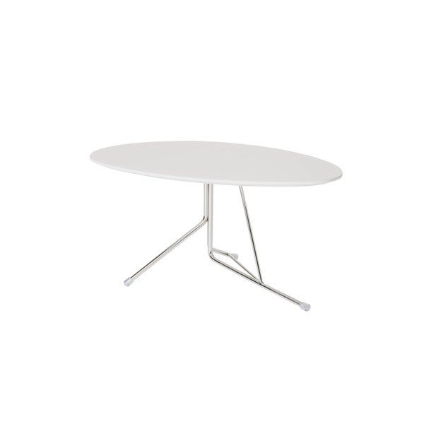 Aurelle Home White Island Medium Coffee Table