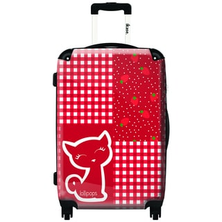 iKase Checkers by Lollipops 20-inch Hardside Carry On Spinner Upright Suitcase