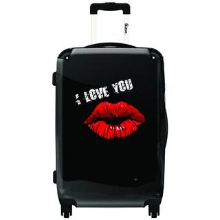 iKase I Love You 20-inch Carry On Hardside Spinner Suitcase