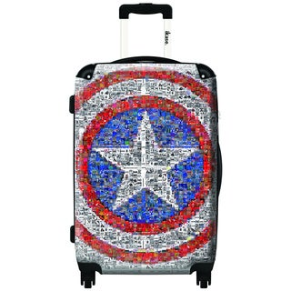 iKase Captain America 20-inch Carry On Hardside Spinner Suitcase