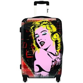 iKase Marilyn Pop Art 20-inch Carry On Hardside Spinner Suitcase