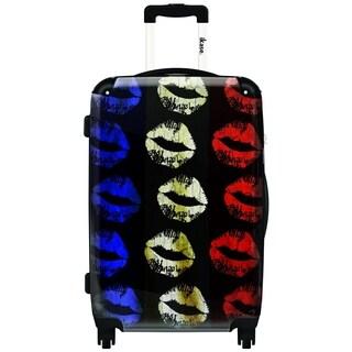 iKase Lips 20-inch Hardside Carry On Spinner Upright Suitcase