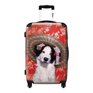iKase Japanese Charm 20-inch Hardside Carry On Spinner Upright Suitcase
