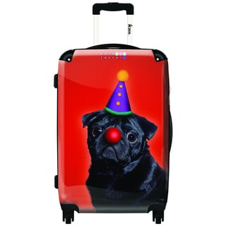 iKase No Mood To Party 20-inch Hardside Carry On Spinner Upright Suitcase