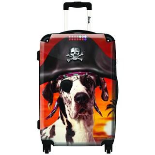 iKase Pirate Dane 20-inch Hardside Carry On Spinner Upright Suitcase