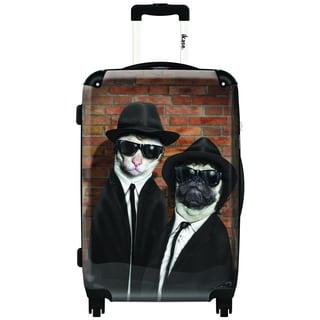 iKase Gangstoodles 20-inch Hardside Carry On Spinner Upright Suitcase