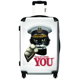 iKase Sammy Cat 20-inch Hardside Carry On Spinner Upright Suitcase