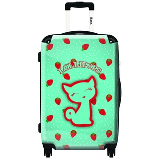 iKase Strawberries by Lollipops 20-inch Hardside Carry On Spinner Upright Suitcase