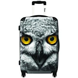 IKASE Owl 24-inch Hardside Spinner Upright Suitcase