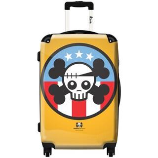 iKase Skullebrity 24-inch Hardside Spinner Upright Suitcase