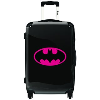 iKase Pink Batman 24-inch Hardside Spinner Upright Suitcase