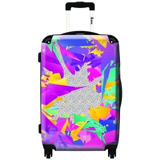 iKase Psychedelic 24-inch Hardside Spinner Upright Suitcase