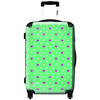 iKase Geometric 24-inch Hardside Spinner Upright Suitcase