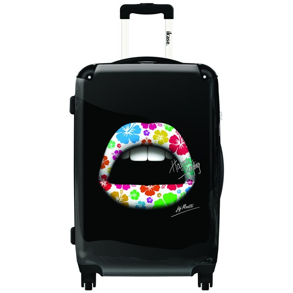 iKase 50's Lips 24-inch Hardside Spinner Upright Suitcase