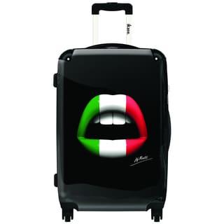 iKase Italian Lips 24-inch Hardside Spinner Upright Suitcase