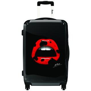 iKase Spade Lips 24-inch Hardside Spinner Upright Suitcase