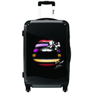 iKase Striped Lips 24-inch Hardside Spinner Upright Suitcase