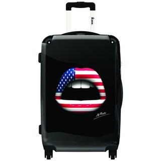 IKASE American Lips 24-inch Hardside Spinner Upright Suitcase