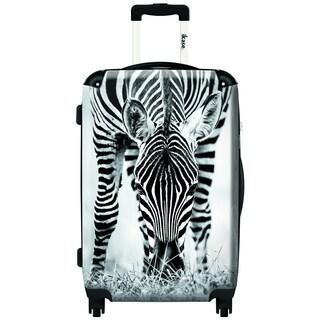 iKase Zebra 24-inch Hardside Spinner Upright Suitcase