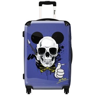 iKase Mickey Skull 24-inch Hardside Spinner Upright Suitcase