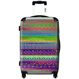 iKase Inca Pattern 24-inch Hardside Spinner Upright Suitcase
