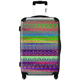 IKASE Inca Pattern 24-inch Hardside Spinner Upright Suitcase