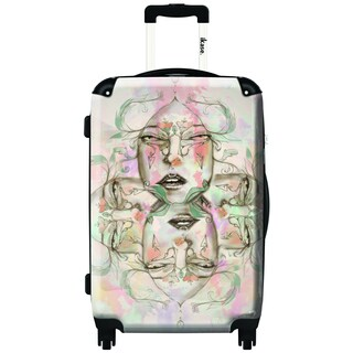 IKASE Kaleidoscope 24-inch Hardside Spinner Upright Suitcase