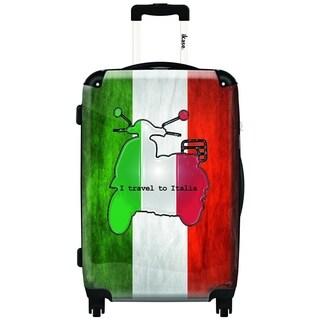 IKASE I Travel to Italia 24-inch Hardside Spinner Upright Suitcase