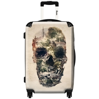 iKase Mummy Skull 24-inch Hardside Spinner Upright Suitcase