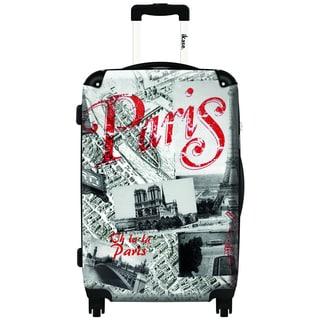 iKase Eiffel by Oh La La 24-inch Hardside Spinner Upright Suitcase