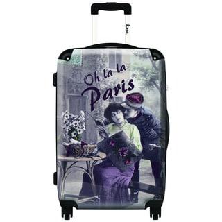 iKase Glamour by Oh La La 24-inch Hardside Spinner Upright Suitcase