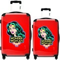 iKase Red Wonder Woman 2-piece Hardside Spinner Luggage Set