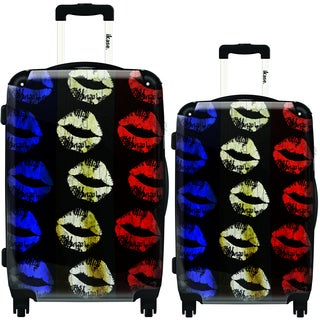 iKase Lips 2-piece Hardside Spinner Luggage Set